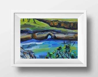 Beach Print, Beach Art, California Art, Point Lobos, California Painting, Carmel, Monterey, China Cove, San Francisco Bay Artist Lisa Elley