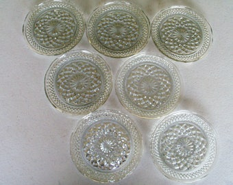 Anchor Hocking Wexford Glass Set Of Seven Plates