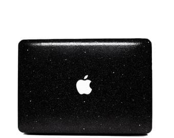 BLACK- Glitter Macbook Case for Macbook Air,  Macbook Pro, + Macbook Pro with Retina Display