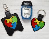 Autism Heart Keychain or ...