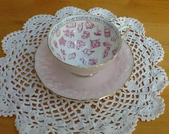 Vintage Paragon Fortune Telling Tea Cup and Saucer