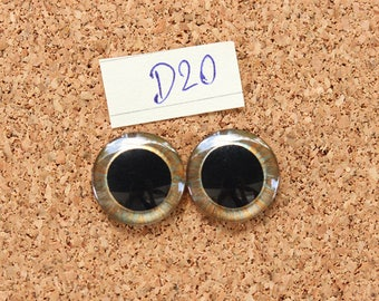 Eye Chips For Blythe Doll  Hand painted pair of eye chips no.D20