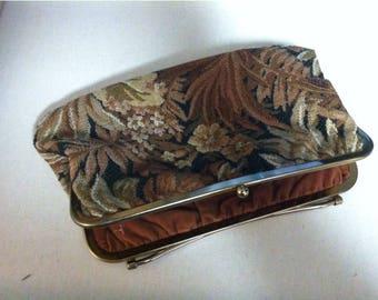 Vintage Floral Carpet Bag Purse Handbag Clutch Tapestry Purse Cosmetic Bag Women's Handbag