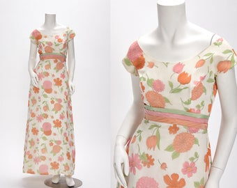 floral evening dress vintage 1950s • Revival Vintage Boutique