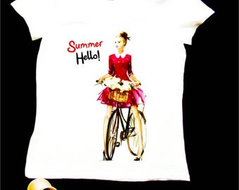 Hand Bicycliste in romantic style