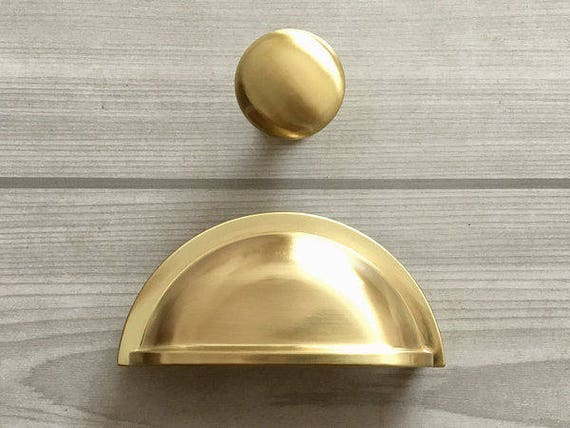 3 Quot Gold Cup Pull Drawer Pulls Handle Dresser Pulls Knobs