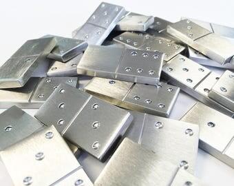 """1/4"""" Stainless Steel Dominoes"""