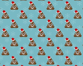 Christmas Poop Emoji Wrapping Paper