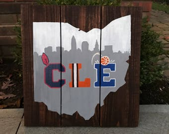 Cleveland Sports Decal Cleveland Cavs Cleveland Indians