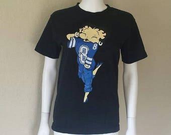 25% off SALE Betty boop #8 football jersey print t shirt