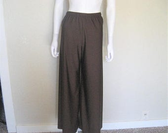 25% off SALE vintage brown wide leg high waist pants