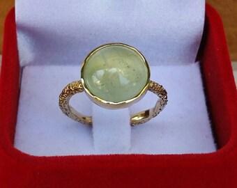Aquamarine Gold Ring ,Large Gemstones Ring ,14K Yellow Gold Ring ,Statement Gold Ring ,Engagement Ring ,Handmade Gold Ring ,Birthstone Ring
