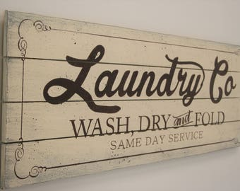 Rustic Laundry Sign Rustic Laundry Room Sign Laundry Sign Joanna Gaines Magnolia