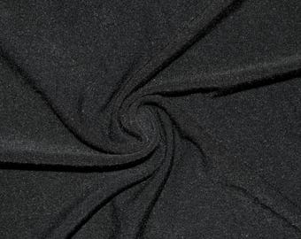 "Black #1 Jersey Knit Rayon Polyester Spandex Lycra Stretch Apparel Craft Fabric Photography 58""-60"" Wide By The Yard"