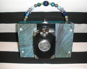 Gasparilla, Peacock, Skull Flask, Gasparilla, Pirate Cigar Box Purse- Authentic Tampa