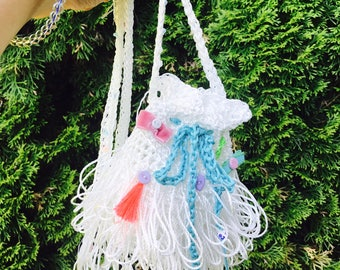 Funny crochet pouch !