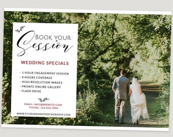 Marketing Board for Photography ad, Wedding Photography Template, Now Booking Photography Template, Engagement Session, m148