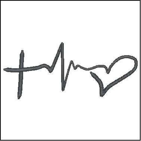 Believe Breast Cancer Awareness Heart Ribbon Applique Machine ...