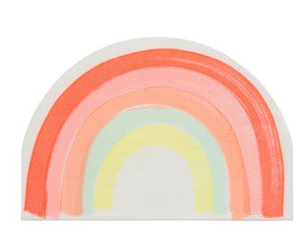 "Rainbow Shape Napkins (Set of 20) - Meri Meri 6.5"" Party Napkins"