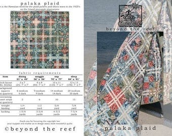 Beyond the Reef Palaka Plaid Fat Quarter Friendly Quilt Modern Pattern