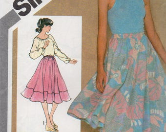 VINTAGE 1980 JIFFY Pattern 9873 Full SKIRTS Misses Small 10-12