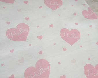 Personalized heart valentine swaddle blanket for newborn or hospital pictures: baby personalized name newborn hospital gift baby