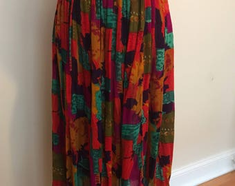 Bright Nepal printed Skirt