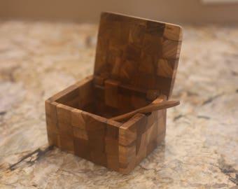 Handmade Teak Salt Box