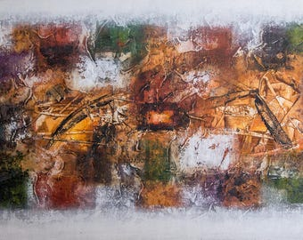 The Abstract Patchwork- Original Acrylic Painting