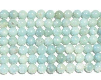 10 x 3mm AMAZONITE round beads