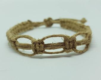 Adjustable Hemp Bracelet- Three Loop