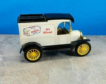 Vintage Wonder Bread Ford Van Metal and Plastic Bank - ERTL Co. - 1913 Ford Model T Van