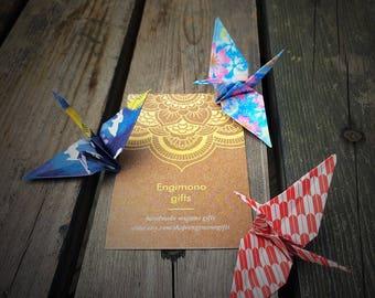 Origami cranes ( 3 pieces )