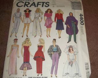 Vintage 1989 McCall's Crafts pattern #4400 Uncut 11 1/2 - Barbie doll clothes