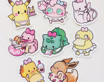 Sharodactyl Pick One: Pretty Poke Stickers
