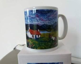 Mug, Scottish croft image