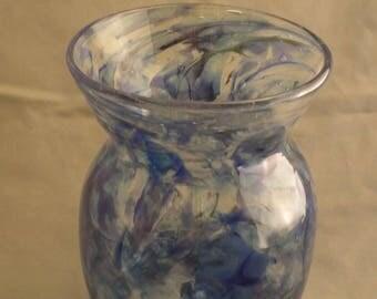 Blue Patch Vase