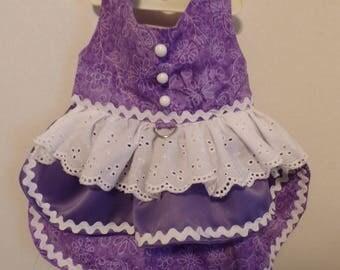 Pretty in Purple Harness Dress (Medium)