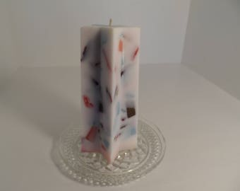Multicolored Star Shaped Scented Pillar Candle