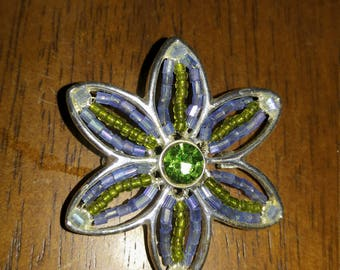 Beautiful vintage beaded pin