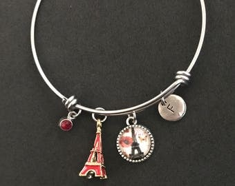 Paris Initial Bangle Paris Initial Bracelet