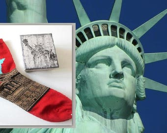 Socks, colorful socks, trendy socks, Statue of Liberty, New York