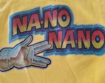 Vintage 1979 MORK and MINDY Na-No Na-No TOTE Bag Yellow Small