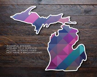 Michigan Mitten Vinyl Decal Sticker A37