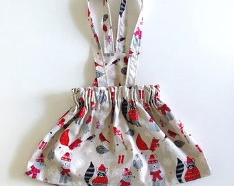 Woodland Christmas Suspender Skirt