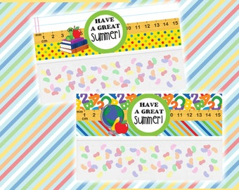 Teacher Gifts; End of School; Back to School Gifts; Favor Bag Toppers; Elementary School; Last day of school PRINTED, CUT and SHIPPED to you