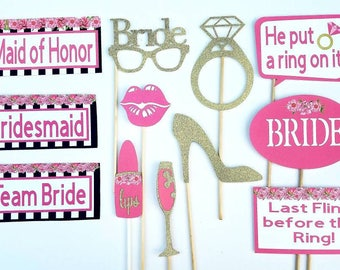 Kate Spade inspired Bridal Shower Photo Booth Props plus FREE matching Photo Booth Sign! Ships in 2-3 days