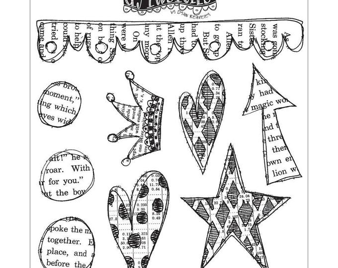 New! Dylusions STAR STRUCK Cling Mount Rubber Stamps Set by Dyan Reaveley