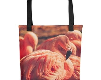 Tote bag - Red Silo Original Art - Pink Flamingos