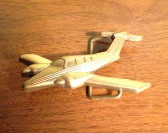 Baron brass airplane belt buckle #6024